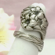 Sterling Tiger LILY Silver Spoon Ring,Silverware Jewelry,Daylily,Custom Sz 7-12