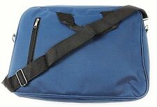 a Navy Blue Document Laptop Messenger Shoulder Bag Briefcase Satchel Case ZIPPED