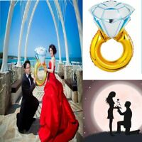 72*46cm Neu Groß Vorschlagen Aufblasbar Folie Heliumballon Diamant-Ring