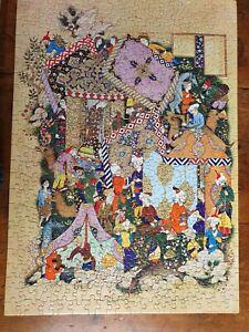 "Vintage Jigsaw Puzzle ""Majnun visits Laila's Camp"""