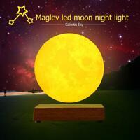 Magnetschwebetechnik 3D Nachtlicht LED Mondlampe Night Touch Lampe Mondleuchte