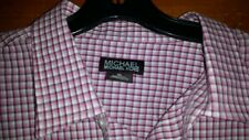 MICHAEL KORS MEN'S RED CHECKERED DRESS SHIRT SIZE XL NEW W/ TAGS !