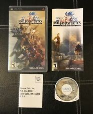 New listing Final Fantasy Tactics: The War of the Lions - Black Label -Complete Cib Sony Psp