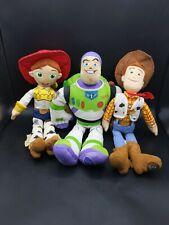 """Toy Story Disney Store 17"""" Jessie Woody & Buzz Lightyear Plush"""