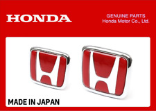 GENUINE HONDA FRONT AND REAR RED H EMBLEM BADGE X2 CIVIC TYPE R FK8 2017+