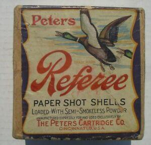 """Peters Referee """"Two Drake Mallards"""" Two Piece Shotgun Shell Box, empty"""