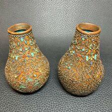 Qing Dynasty Original Very Old Cloisonne Bronze Vases Urns Scent Burners - Pair