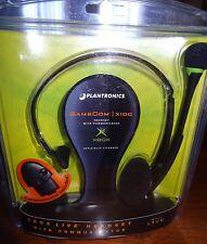 Plantronics Gamecom X10C Black/Green Headband Headset XBox w/Communicator NEW