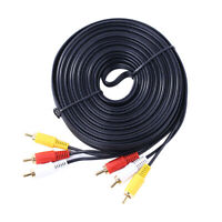 3 RCA Composite Male to Male Audio Video AV Cable for DVD TV