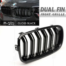 Gloss Black Dual Kidney Front Grille for BMW 3 series F30 F31 2012-16 Free Clip