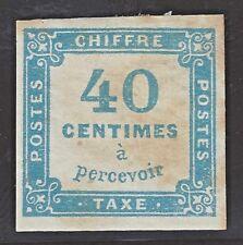 Taxe n°7 40c Bleu timbre classique Neuf sans gomme