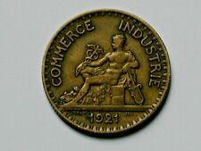 1921 FRANCE (Notgeld) Coin - Bon Pour 2 Francs - toned - aluminum-bronze
