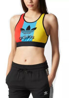 Adidas Trefoil Top Women's Sports Bra Multicolour Cropped Tank Gym Training