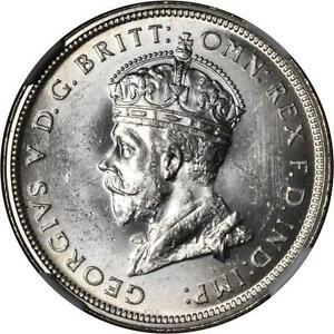 AUSTRALIA GEORGE V  1927  FLORIN SILVER COIN, UNCIRCULATED CERTIFIED NGC MS-63