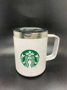 Starbucks White Metal Stainless Steel 12 oz Coffee Tea Mug Cup 2020 New