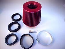 Sportluftfilter Pilz in Rot, offen Filter Motorsport Universal + 4 Adapterringe