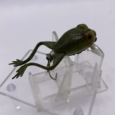 New ListingVintage Unknown Frog Fly Fishing Lure Rubber Wood Preowned Heddon Pflueger ? 3�