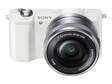 Sony Alpha a5000 Mirrorless Digital Camera with 16-50mm OSS Lens White