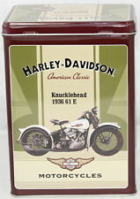 Licenced Harley Davidson Knucklehead 1936 61 E Large Metal Tin Box
