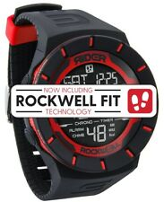 NEW IN BOX MENS Rockwell COLISEUM FIT Wrist Watch BLACK / RED RCP-103 LIMITED