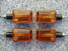 Honda CB 250 350 400 500 650 900 Shadow 750 Black/Amber MOTORCYCLE TURN SIGNALS