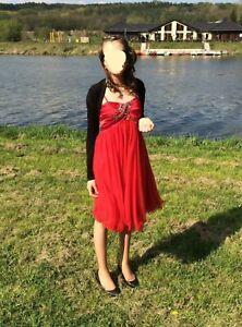 Rotes Tüllkleid, Jugendweihekleid, Gr.S