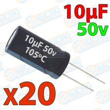 Condensadores electroliticos 10uF 50v ±20% 4x8mm - Lote 20 unidades - Arduino El