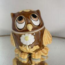 Vintage Josef Original Brown And Yellow Fridge Fresh Owl
