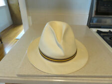 Tommy Bahama 100% Toyo Straw Fedora Hat Natural w/Band Men L XL