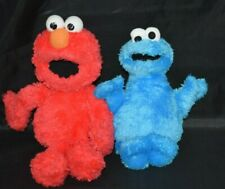 "Lot Sesame Street Plush GUND Elmo 12"" Cookie Monster Hasbro 9"" Stuffed"