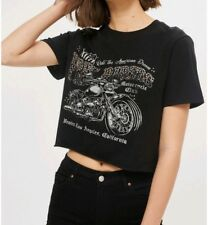 NEW Womens Top Shop Wild Affair Motorcycle Crop Top, Size Large