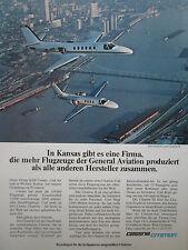 4/1978 PUB CESSNA CITATION I II AIRCRAFT FLUGZEUG WICHITA KANSAS GERMAN AD