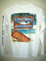 Kenny Chesney 2009 Sun City Carnival Tour L/S White Cotton T-Shirt Size Small