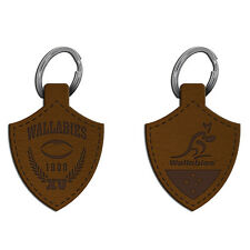 ARU Wallabies Rugby Union Leather Keyring **ARU Official Merchandise**