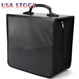 400 Disc CD DVD Album Storage Bag Organizer Holder Media Carrying Case Black