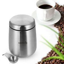Easehold Coffee Bean Airtight Canister Tea Sugar Container Storage Jar+Spoon【US】
