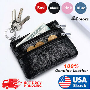 Leather Coin Purse Women Small Wallet Change Purses Zipper Money Bags Key Holder