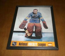 ST. LOUIS BLUES GLENN HALL FRAMED NHL MAGAZINE COVER PRINT