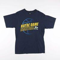 Vintage ADIDAS Notre Dame Fighting Irish Basketball T-Shirt Men's Size Medium