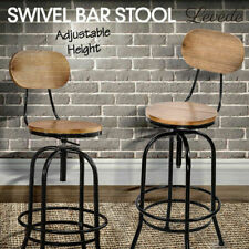 Levede Industrial Bar Stools Kitchen Stool Wooden Barstools Swivel Vintage Chair