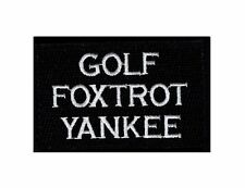 Golf Foxtrot Yankee Tactical Morale Hook Fastener Patch (MTF2)