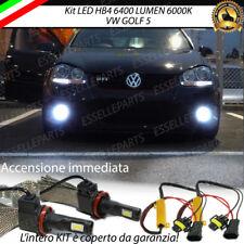 KIT FULL LED VW GOLF 5 V LAMPADE HB4 FENDINEBBIA CANBUS 6400 LUMEN