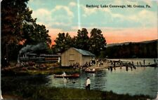 Postcard Bathing Lake Conewago Mt Gretna Pa