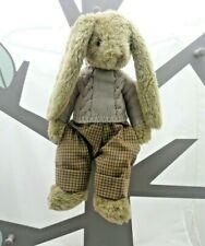 Jours Heureux peluche collection lapin beige avec pantalon et pull 40 cm env