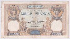 BILLET 1000 FRANCS CERES ET MERCURE 17 MARS 1932 Q 336 V 1804
