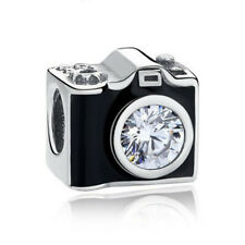 Fashion camera European Silver CZ Charm Beads for Necklace Bracelet Chain