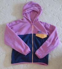 Patagonia Girl's micro D Snap T Jacket Pink/Navy M NWT