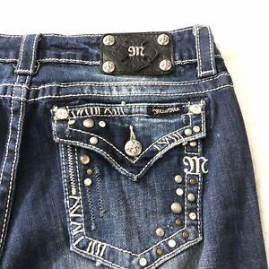 "MISS ME EASY BOOT Mid Rise Curvy Fit Jeans 31"" inseam Sz 30 JE5463E3R DK 29 EUC"