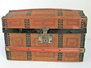 Antique Dome Top Doll Trunk c. 1880