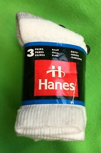 3 Paquet - Hanes USA Enfants Garçons Filles Blanc Athlétique SPORTS Socks UK